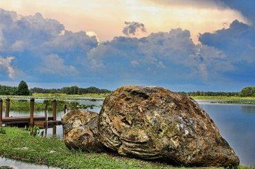 Lake and Turtle Rock