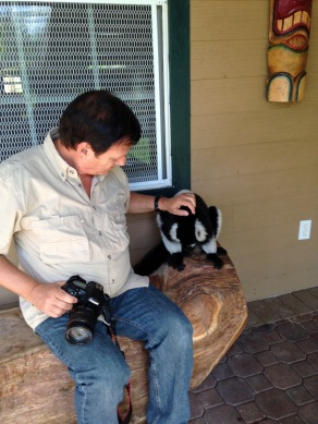 Dad and Lemur